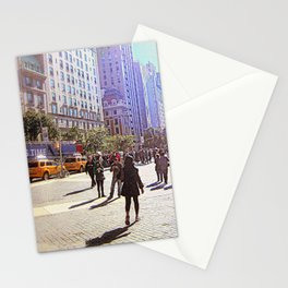 Sunny day in front of Metropolitan museum Stationery Cards