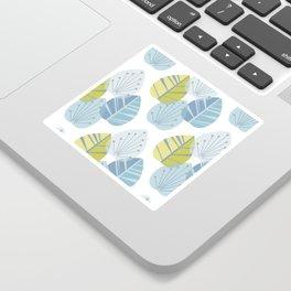 Mid-Century Modern Leaves Sticker