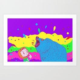 Flippin the bear Art Print
