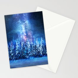 Forest under the Starlight Stationery Cards