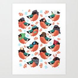The bullfinches Art Print