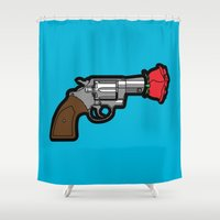 banksy Shower Curtains featuring Pop Icon - Banksy by Greg Guillemin