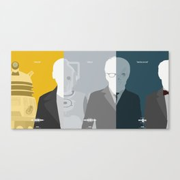 """Doctor Who 50th Anniversary Posters - """"The Complete Set"""" Canvas Print"""