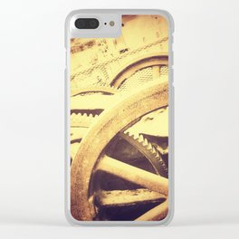 Ancient Rust Clear iPhone Case