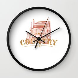 Windows Down Country Up - Truck Driver Music Gift Wall Clock