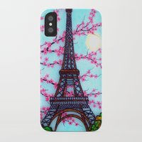 eiffel tower iPhone & iPod Cases featuring Eiffel Tower by ArtLovePassion