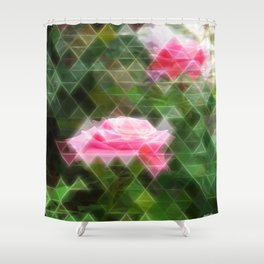 Pink Roses in Anzures 5 Art Triangles 2 Shower Curtain