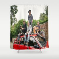 1d Shower Curtains featuring 1D FOUR photoshoot by kikabarros