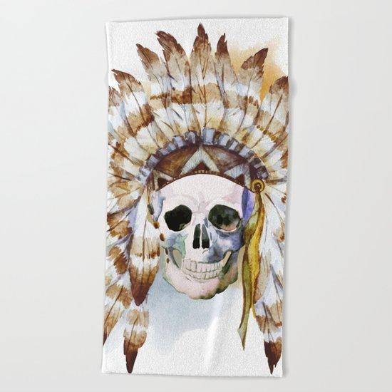 Skull 02 Beach Towel