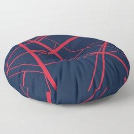 Crossroads - Navy and Red Floor Pillow