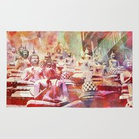 buddhism Area & Throw Rugs featuring Buddha   by LebensART