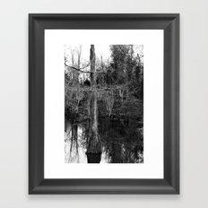 moss and tree Framed Art Print