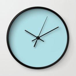 Powder Blue Colour Wall Clock