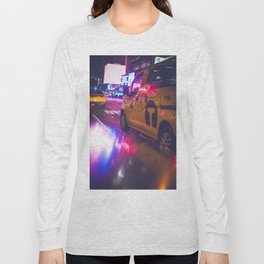 Taxi NYC Life (Color) Long Sleeve T-shirt