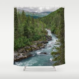 Alaska River Canyon - II Shower Curtain