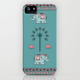 Celebrate Elephants iPhone Case