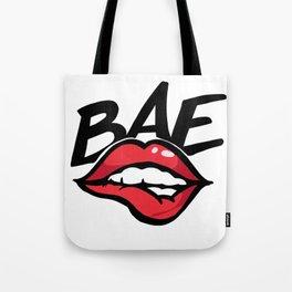 Before anyone else bae kiss lips hot Tote Bag