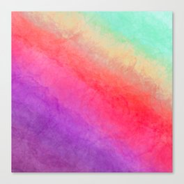 Abstract hand painted violet lilac pink yellow watercolor ombre Canvas Print