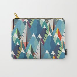 Mountains and Spruces Pattern Carry-All Pouch