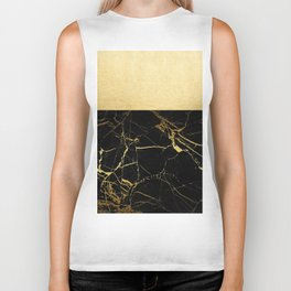 Gold and Black Marble Biker Tank