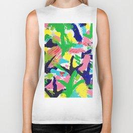 Bird Tracks, Abstract Art Biker Tank