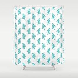 """""""How Do Ya Do?"""" - Blue Shower Curtain"""