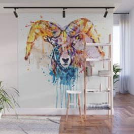 Bighorn Sheep Portrait Wall Mural