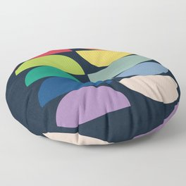 Abstract Flower Palettes Floor Pillow