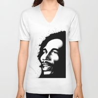 marley V-neck T-shirts featuring Marley by Mr Shins
