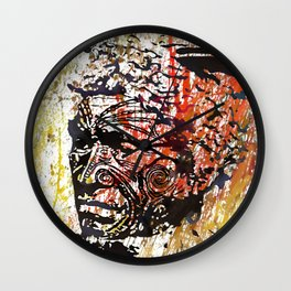 Maori Warrior 1 Wall Clock