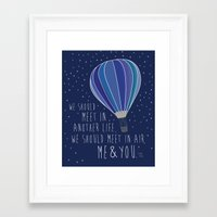 sylvia plath Framed Art Prints featuring Sylvia Plath In Air by Peated Proverbs