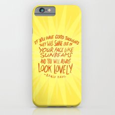 Roald Dahl on Positive Thinking iPhone 6 Slim Case