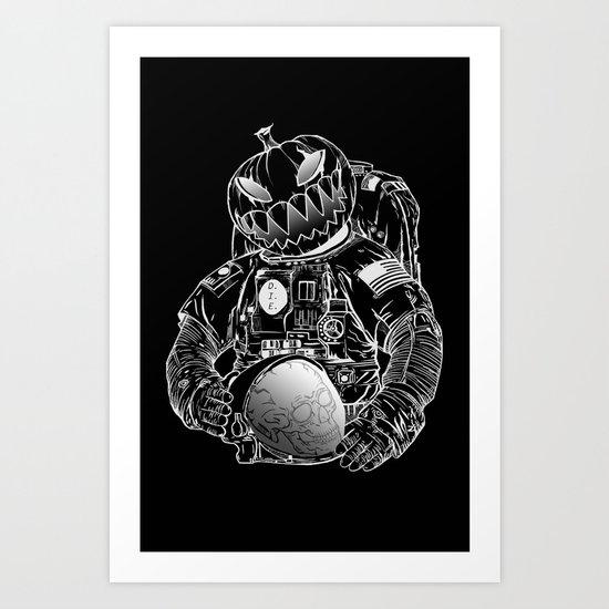 Spooky Astronaut Art Print