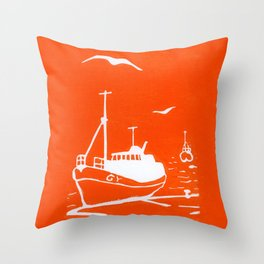 Comrades in Orange Throw Pillow