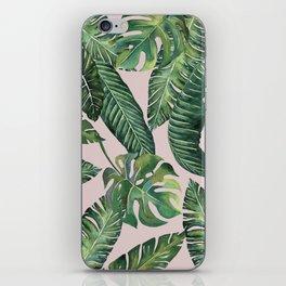 Jungle Leaves, Banana, Monstera Pink #society6 iPhone Skin