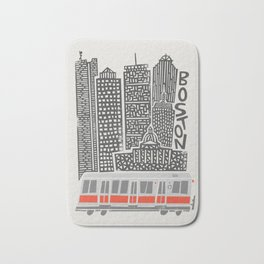 Boston City Illustration Bath Mat