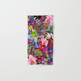 Hummingbirds Black Hand & Bath Towel