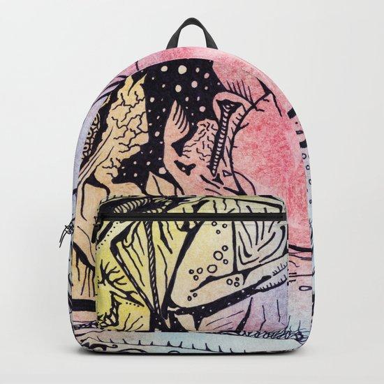 Zentangled alien world Backpack