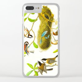 Black Capped Titmouse Clear iPhone Case