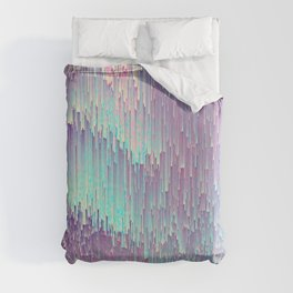 Iridescent Glitches Duvet Cover