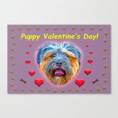 Puppy Valentine's Day! Canvas Print