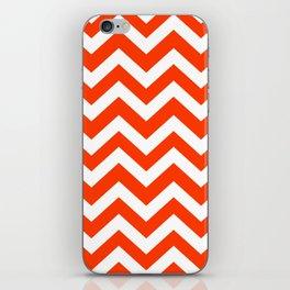 Coquelicot - red color - Zigzag Chevron Pattern iPhone Skin