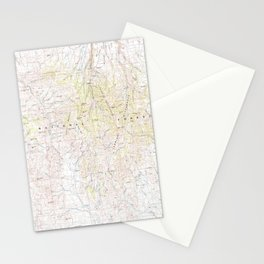 NV Jarbidge Mts 321524 1981 topographic map Stationery Cards