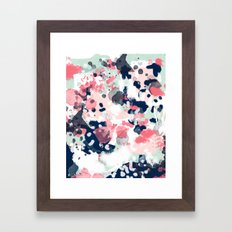 Hayes - abstract painting minimal trendy colors nursery baby decor office art Framed Art Print