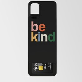 be kind colors rainbow Android Card Case