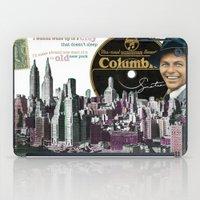 frank sinatra iPad Cases featuring Frank Sinatra - New York by Dots Studio