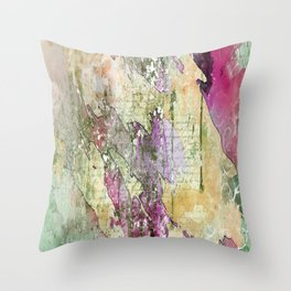 Saletta Home Decor: Love Letters on Multi-Color Paint Splatter Abstact Throw Pillow