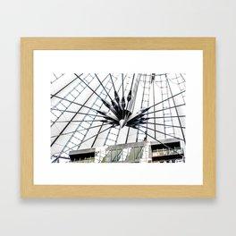 Roof of berlin shopping center Framed Art Print
