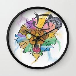 Rainbow Roar Wall Clock