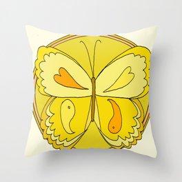 pura vida peace butterfly // retro art by surfy birdy Throw Pillow